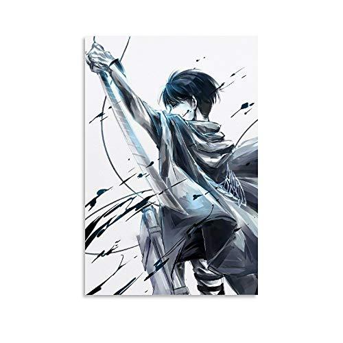 DIDIWEI Ackerman Attack on Titan Levi Poster decorativo da parete per soggiorno, camera da letto, 40 x 60 cm