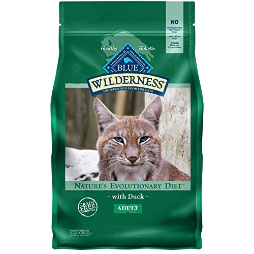 Blue Buffalo Wilderness High Protein Grain Free Natural Adult Dry Cat Food, Duck 5-lb