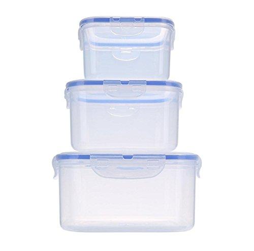 Nalmatoionme Boîtes de rangement rectangulaires transparentes en plastique pour aliments et fruits