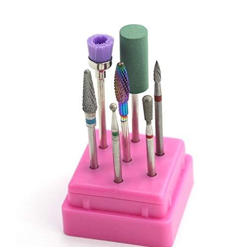 PrittUHU Carbide Ceramic Diamante Nail Taladro Fresado Cortador bit Set Manicure Stone Pedicure Electric para Mill Manicure Machine 2.35mm Inicio Salón Uso (Color : 5)
