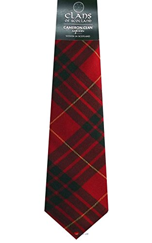 I Luv Ltd Cameron Clan 100% Wool Scottish Tartan Tie