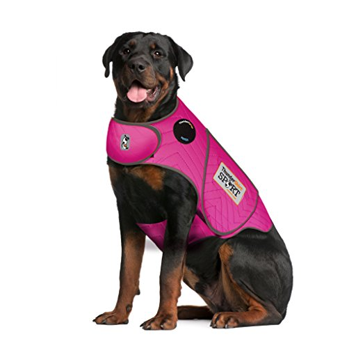 Thundershirt Sport Dog Anxiety Jacket | Vet Recommended Calming Solution Vest for Fireworks, Thunder, Travel, Separation | Fuchsia, XX-Large