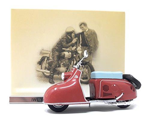 Motorrad Motorroller IWL Pitty rot Atlas Modellmotorrad DDR 1:24