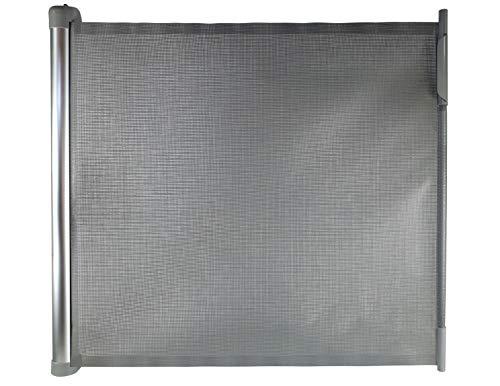 Callowesse® DELUXE Barriera di Sicurezza Estensibile 0-110cm con Alloggiamento in Aluminio - Cancelletto per Scale, Porte, Corridoi - Meccanismo di Apertura a Una Mano (Colore: Grigio)