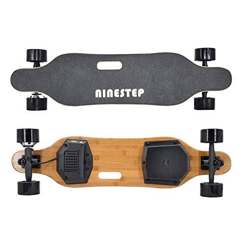 Ninestep Elektro-Skateboard mit Fernbedienung, 400W-Longboard für bürstenlose Motoren für Profis, 37-Zoll-Elektroplatine für Jugendliche und Erwachsene, 20 MPH Höchstgeschwindigkeit, max zu 120kg