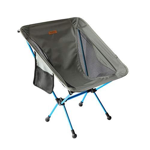 JYQ-SZRQ Silla de Camping Plegable Sillas al Aire Libre portátiles Ultra Ligeros con Bolsa de Transporte for la Pesca Senderismo de Picnic for Trabajo Pesado 130 kg Capacidad