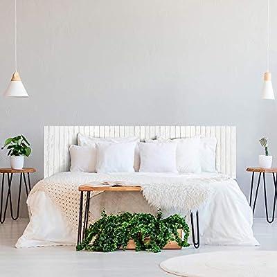 ✅ Cabecero para cama impreso en PVC de 3 mm madera blanca efecto palets. Nuevo producto disponible en varios tamaños para completar la decoración de tu habitación. ✅ Disponible en varios tamaños para que elijas la que mejor se adapte a tu necesidad. ...