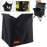 JRXyDfxn Küche unsichtbare Tasche Oxford Cloth Speichernetzbeutel Hang Klapptisch Aufbewahrungstasche für Picknick im Freien Camping (Schwarz-L)