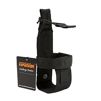 EXCELLENT ELITE SPANKER Tactical Military Portable Belt Bottle Holder Pouch Molle Adjust EDC Water Bottle Carrier for Hunting Walking Running Traveling  Black