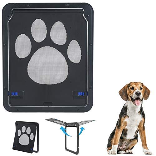 SOPRETY Hundetür Fliegengitter Hundeklappe Schwenkbare Klappe Für Haustier Hunden Design Für Fliegengittertür Spannrahmen-Türen Insektenschutz-Drehtür