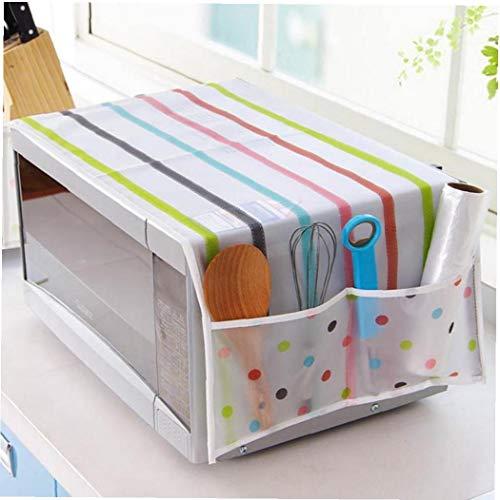 PiniceCore Mikrowellenherd Abdeckung Küche Ölstaubschutz Doppeltaschen Küchenzubehör Zubehör