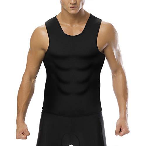 Mens Taille Trainer Weste Bauch Body Shaper Workout Tank Top Shirt für Weight Loss