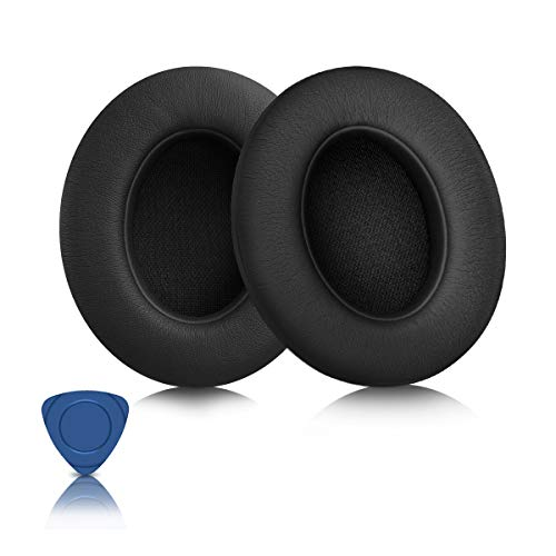 Headphones Replacement Pads for Beats, ELZO Professional Ear Pads for Beats Studio 2&3 Wired/Wireless Over-ear Headphones with Soft Protein Leather/Noise Isolation Memory Foam/Strong Adhesive 3M Tape
