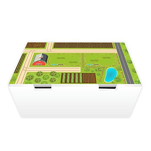 nikima Schönes für Kinder Spielfolie für STUVA Bauernhof (Möbel Nicht Inklusive)