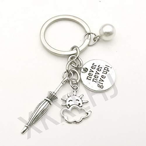 N/ A Leuke wolken paraplu hanger sleutelhanger sieraden parel sleutelhanger reis souvenir cadeau mannen en vrouwen