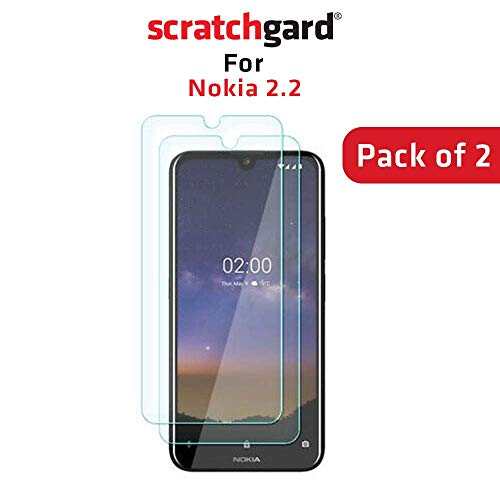 Scratchgard 2 Pack Anti-Bubble & Anti-Fingerprint High Definition (HD) Clear (0.1mm) PET Film Screen Protector Screen Guard for Nokia 2.2 [Pack of 2] (NOT Glass)