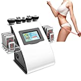 Simlug 40K Vibration Body Shaping Massager 5 in 1 Professional Weight Loss Massager Multipolar Blasting Fat Instrument Skin Lifting Tighting Beauty Machine(5 Massage Heads) CE, FDA Approval