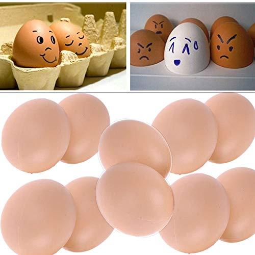 10 Unids Huevo Artificial Huevos de Pascua Falsos Huevos Realistas Maniquí Gallina Aves Nido de Pollo Juguete Broma Broma Huevos de Plástico Decoración de la Cocina del Hogar Favores de la Fiesta