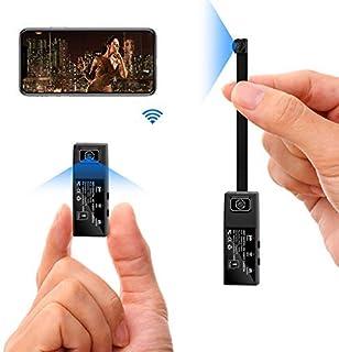 Spy Camera Hidden Cam, DIY Mini Camera Wi-Fi HD 1080P Wireless Security Nanny Cam for iPhone/Mac/Android/Window Remote Vie...