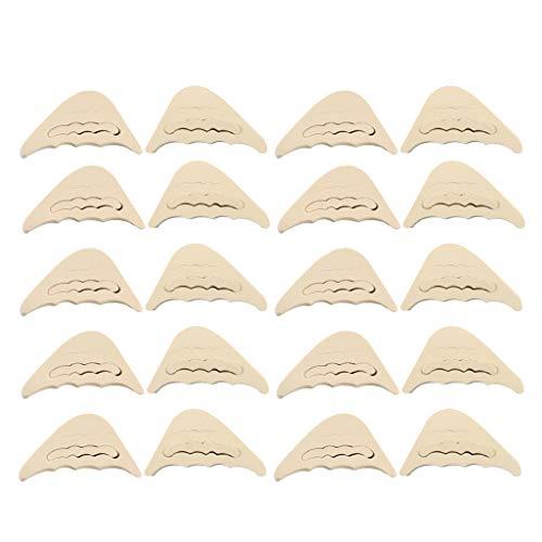 Milageto 20Pcs Almohadillas de Inserción en El Antepié Insertos de Relleno en La Punta Delantera Tapón Del Dedo Del Pie para Tacón Alto