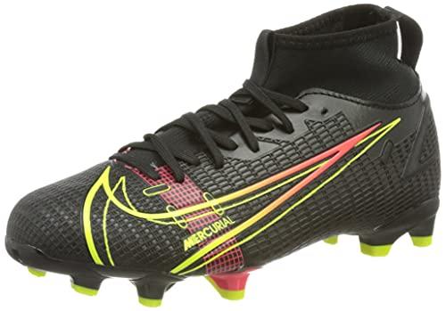 Nike Mercurial Superfly 8 Academy MG Soccer Shoe, Black/Cyber-Off Noir-Rage Green-Siren Red, 38 EU
