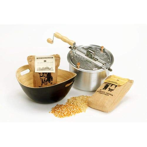 New OKSLO Whirley pop popcorn popper set