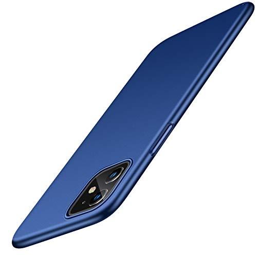 TORRAS Ultra Dünn Hülle für iPhone 11 Hülle mit [2 Stück 9H Festigkeit Schutzfolie] Slim Minimalism Matt Hardcase Schutzhülle iPhone 11 Hülle Kratzfest Stoßfeste Handyhülle für iPhone 11 - Blau