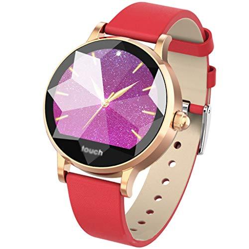 ZXQZ Relojes de Pulsera Reloj Inteligente, Pulsera Elegante Femenina, Pantalla Grande a Color 1.04, Reloj Deportivo Multifuncional con Monitorización de Frecuencia Cardíaca y Presión Arterial Watches
