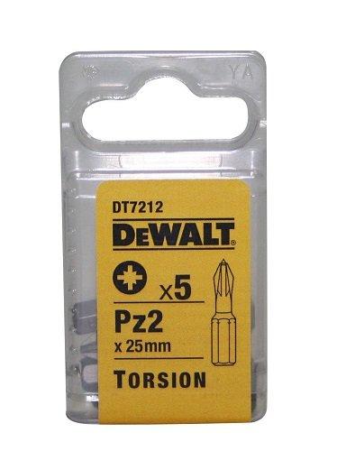 Dewalt DT7212-QZ DT7212-QZ-Puntas de torsión 25mm Pz2, 0 W, 0 V, Plata