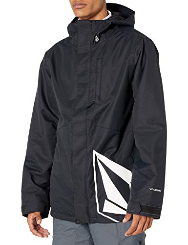 Volcom mens 17Fourty Insulated Snowboard Jacket, black, Large