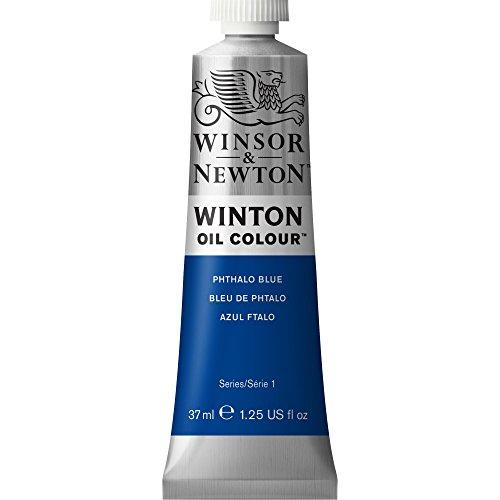 Winsor & Newton 1414516 Winton Oil Color Paint, 37-ml Tube, Phthalo Blue