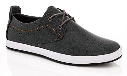 Franco Vanucci Men's Fashion Lace-up Sneakers Edward-1 - Grey, Size 9.5