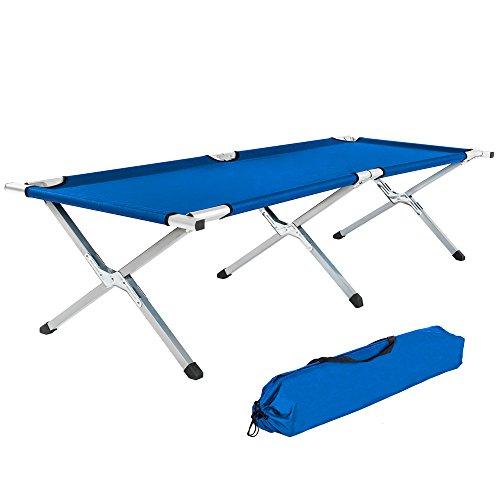 TecTake Lit de Camp Pliable XL 150kg + Poche - diverses Couleurs au Choix et diverses quantités - (2X Bleu | no. 402002)