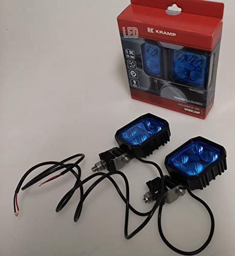 Kramp LED Arbeitsscheinwerfer blau, Blue Beam, 9 W, 1000 lm, Nahfeldausleuchtung