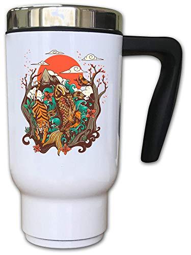 Iprints Japanse schilderij gestileerde herfst bladeren thermische thee koffie mok