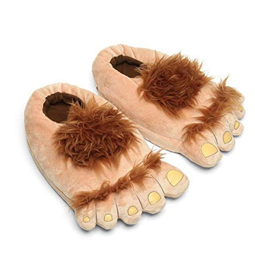 ZYCX123 1 Paar Plüsch Monster Abenteuer Slippers Neuheit Winter-Big Feet Hausschuhe Kreative Bigfoot Schuhe warme Winter Hobbit-Füße Indoor-Schuhe für Erwachsene Kinder