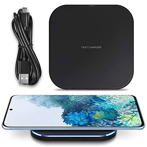 UC-Express QI Induktive Ladestation kompatibel für Samsung Galaxy S20 FE Wireless Charger Kabelloses Universal Schnellladegerät