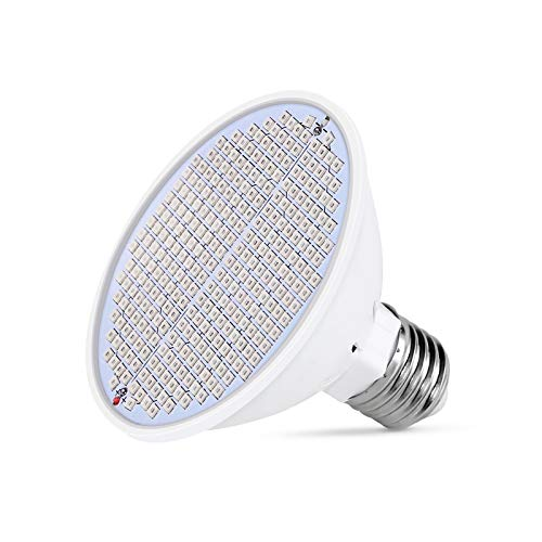 XGzhsa Bombilla de Cultivo de Plantas, lámpara de Crecimiento de Plantas, Bombilla de luz de lámpara de Planta con 300 Leds Ideal para jardín Interior y Plantas hidropónicas (E27, 85V-265V)