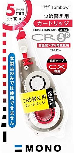 トンボ鉛筆 MONO 修正テープモノCX5R用カートリッジ モノCR5R CT-CR5R 【× 4 個 】