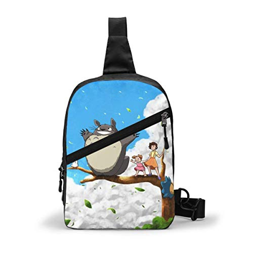 JONINOT Anime My Neighbor Tot-oR-o Paquete de pecho Sling Bag Daypack Hombres Mujeres Pecho Mochila de hombro Casual Vintage Chest Bag Daypacks