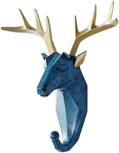 Reindeer Head Wall Mount, Deer Head Coat Hooks, Animal Coat Hooks Wall Mounted, Animal Hook Deer Head Coat Hook Wall Key Wall Mount, for Clothes Keys Towels Home Decor (White)