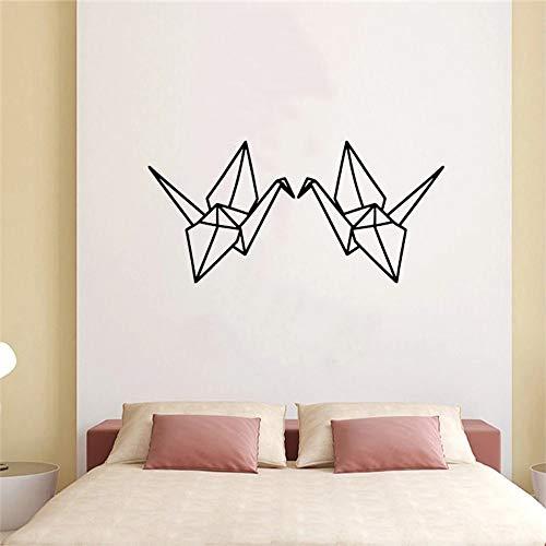 Amor papel grúa etiqueta de la pared arte lindo animal pegatinas de pared flor vid decoración artística