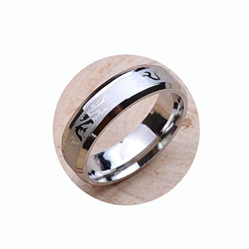 Modieuze liefdevolle persoonlijkheid titanium stalen ring draken ring sieraden accessoires, natuurlijk, 18