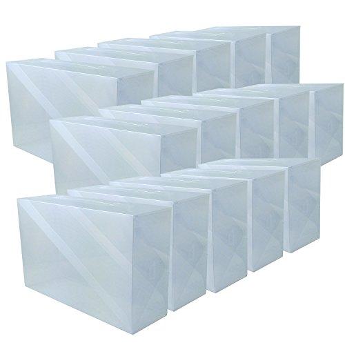 DynaSun 16163 15 X PP368TC Boîte à chaussures, homme/femme, gain de place, transparente, 15 places