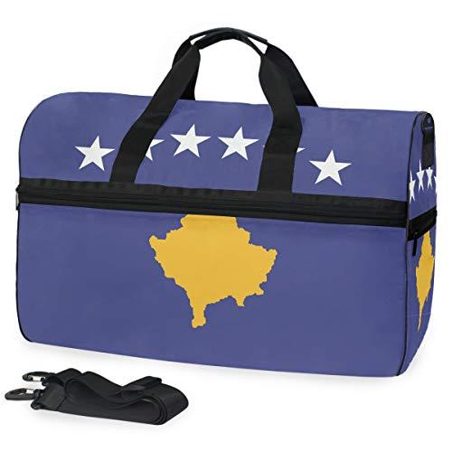 Montoj-Flagge von Kosovo, übergroße Reisetasche, Schultertasche, Reisetasche