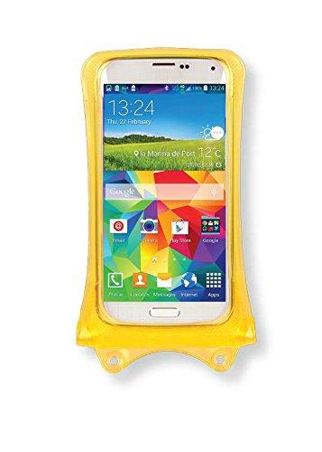 Acer Liquid Jade Z, M320, Z320, Z520, Zest Handyhülle/Handytasche - wasserdicht - Gelb (Doppel-Klettverschluss, IPX8-Zertifizierung zum Schutz vor Wasser bis 10 m Tiefe)