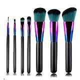 YWSZJ 7 Pinceles de Maquillaje Colorido Conjunto gradiente Azul Mango de Madera Belleza Maquillaje Pincel Set grafthadow Cepillo