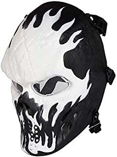 NINAT Airsoft Skull Masks Full Face - Tactical Mask Eye Protection for CS Survival Games BBS Shooting Masquerade Halloween Cosplay Movie Props Zombie Scary Skeleton Masks