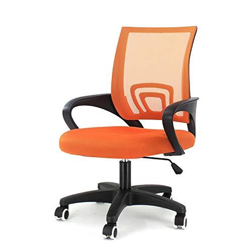 EUCO Desk Chair For Office Orange Ergonomic Swivel Chair Adjustable Mesh Executive Chair