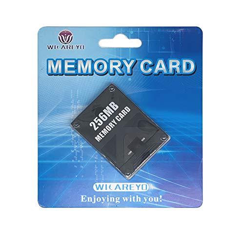 WICAREYO Nero 256MB scheda di memoria per PlayStation 2 PS2